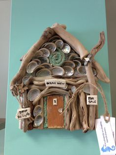 Karen Watson shell Beach Hut - a special order at Everything Westward in Westward Ho!