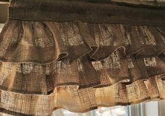 burlap valance for the kitchen (other uses for burlap on this site also)