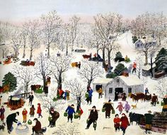 Grandma Moses - always, a beautiful palette and serene composition