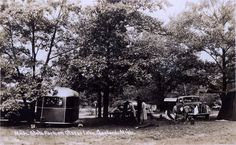 Camping at the Otsego Lake State Park 1938