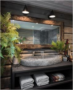 Bathroom inspiration of the day . Rustic Bathroom Designs, Bathroom Interior Design, Modern Bathroom, Bathroom Vinyl, Zen Bathroom, Spa Like Bathroom, Rustic Bathrooms, Downstairs Bathroom, Bathroom Inspo