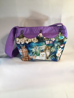 Handcrafted Cloth Purse, Small Handbag, Changeable Cover Bag, Small Hobo Bag, Colorful Purse, Two Snap Bag, Small Project Bag, Floral Bag by PamsBeadedTreasure on Etsy Shoulder Purse, Shoulder Strap, Snap Bag, Cotton Polyester Fabric, Floral Bags, Cover Pics, Small Handbags, Hobo Bag, One Pic