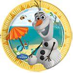 Disney Frozen Summer Olaf 20cm Plato de Cartón - Unidad Image