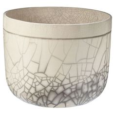 Handmade raku ceramic bowl with a crackle glaze. Product: BowlConstruction Material: Raku ceramicCo...