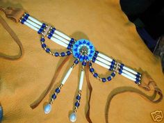 Native American Buffalo Bone Hairpipe Choker by Touchearth Native American Jewellery, Native American Regalia, Native American Clothing, Native American Crafts, Native American Design, Native American Beadwork, American Indian Jewelry, Indian Beadwork, Native Beadwork
