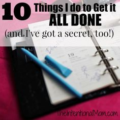 Wondering how to get it all done? Do you feel like you've always got more to do when your day ends? This busy mom of 7 shares her STEP BY STEP formula complete with a SECRET!