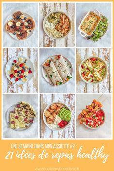 21 idées de repas équilibrés - Lucile in Wonderland 1 Woche auf meinem Teller # 2 : 21 ausgewogene Essensideen breakfast Healthy Juice Recipes, Healthy Juices, Fruit Recipes, Healthy Drinks, Healthy Cooking, Nutritious Snacks, Healthy Snacks, Healthy Fruits, Clean Eating Recipes