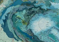 Tsunami Topographical Collages : Matthew Cusick