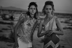 W Magazine Apocalypse Now Model: Sasha Pivovarova, Natalie Westling Photographer: Peter Lindbergh Fashion Editor: Sarah Richardson Hair: Odile Sasha Pivovarova, Peter Lindbergh, Fashion Shoot, Editorial Fashion, Fashion Models, Arty Fashion, Apocalypse Now, Brooklyn, W Magazine