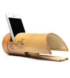 Natural Bamboo Phone Amplifier