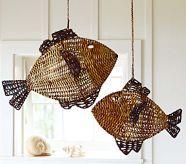 Woven Fish Hanging Decor...Boy's Bath