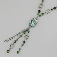 Abalone shell long lariat necklace handmade ani by AnniDesignsllc, $25.95