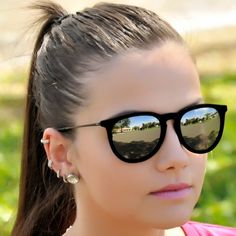 d38de4cdf23d0 rayban 6 Oculos De Sol Gatinho, Oculos De Sol Espelhado, Óculos De Sol  Feminino