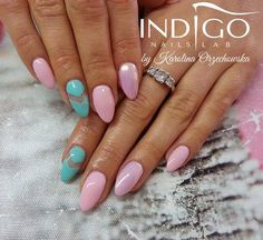 by Karolina Orzechowska Indigo Educator - Follow us on Pinterest. Find more inspiration at www.indigo-nails.com #nailart #nails #indigo #pink