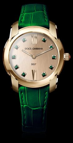 Women's Watch - Gold and Gems Black Emeralds - D&G Watches | Dolce & Gabbana Watches for Men and Women