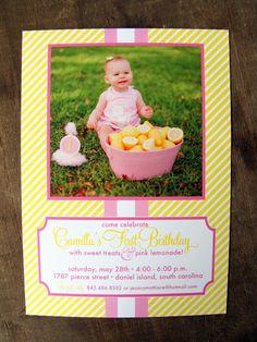 Baby's 1st Bday invite- so cute!