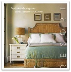 Earth tones and airy colors give a calming vibe to your bedroom.
