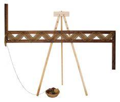 Adjustable Rectangle Frame, from Hillcreek Fiber Studio (Columbia, MO), for single-strand weaving.
