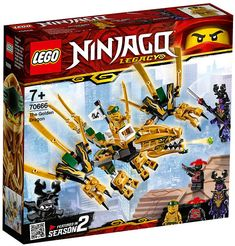 Ride into the Final Battle against evil Overlord with Golden Ninja Lloyd on his Golden Dragon! Beware of Stone Army Scout's crossbow and Overlord's blade spe. Figurines D'action, Figurine Lego, Ninjago Lego Sets, Lego Ninjago Minifigures, Lego Duplo, Katana, Legos, Dragon Ninja, Lego Dragon