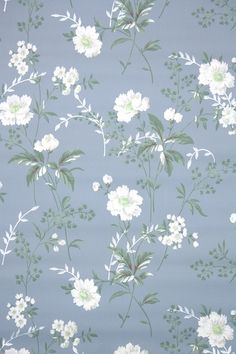 This roll of wallpaper is an authentic, old stock roll from the It is a double roll, which will cover approximately 50 sq. 4 Wallpaper, Flower Background Wallpaper, Flower Backgrounds, Pattern Wallpaper, Wallpaper Backgrounds, Illustration Blume, Pattern Illustration, Floral Vintage Wallpaper, Cute Wallpapers