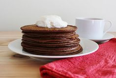 Hot Cocoa Low Carb Pancakes