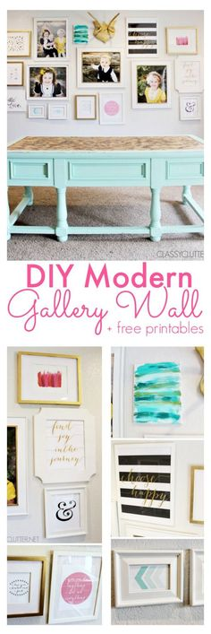 Diy modern gallery wall diy picture frames/printables дом, г
