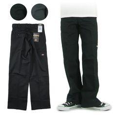 Dickies ディッキーズ ダブルニーワークパンツ ルーズフィット 85283 -JOE- Black Jeans, Sweatpants, Fashion, Moda, Fashion Styles, Black Denim Jeans, Fashion Illustrations