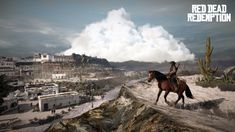 Red Dead Redemption is an awesome pairing of an incredibly expansive open world suited for roaming, first person shooting action, and engaging mini-games.  The BEST game for horse lovers!