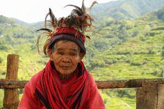 Elderly Ifugao Tribal Woman at Banaue Rice Terraces, Philippines
