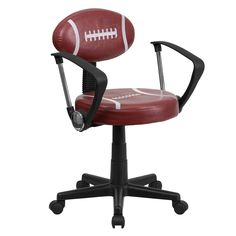 Flash Furniture  Football Style Task Chair Football Shaped Back
