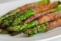 TESTED & PERFECTED RECIPE – Asparagus spears wrapped with pancetta & sautéed until crisp. Perfect with brunch or as a side with simply grilled chicken.