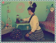 #sweaters #skirts #bag #flowers #black #skater #romantic #girly #love