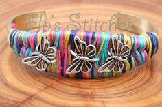 Multicoloured Butterfly Bracelet