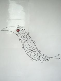 Still Another Red - Eyed Wire Bird Sculpture