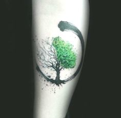 a Celtic tattoo with the tree of life half in summer, half in . - a Celtic tattoo with the tree of life half in summer, half in …, tree - Cool Forearm Tattoos, Forearm Tattoo Design, Body Art Tattoos, Sleeve Tattoos, Tattoo Art, Tattoo Thigh, Men Tattoos, Winter Tattoo, Summer Tattoo