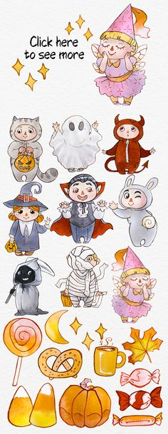 Halloween Watercolor Set by Anna Faun on @creativemarket