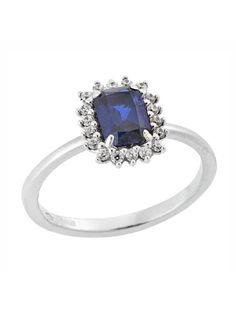 Δαχτυλίδι Λευκόχρυσο Ροζέτα 14Κ με Ζιργκόν Αναφορά 023448 Ένα όμορφο δαχτυλίδι (ροζέτα) που μπορείτε να χαρίσετε σε μια γυναίκα το οποίο έχει κατασκευαστεί από Χρυσό 14Κ σε λευκό χρώμα και είναι στολισμένο με πέτρες ημιπολύτιμες (ζιργκόν) σε χρώμα λευκό και μπλε. Sapphire, Engagement Rings, Jewelry, Fashion, Enagement Rings, Moda, Wedding Rings, Jewlery, Jewerly