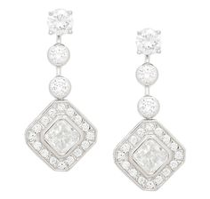 Diamonelle Sterling Silver Studs with Enhancer Drop