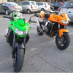 Name these bikes‼️ Photo: @scintilla89 Hashtag #2WP for a chance to be featured #motorbike #motorcycle #sportsbike #yamaha #honda #suzuki #kawasaki #ducati #triumph #victory #buell #aprilia #harleydavidson #r1 #r6 #cbr #gsxr #fireblade #hayabusa #photography #fz750 #bikelife #Twowheelpassion