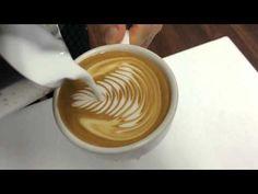 라떼아트 로제타 Latte Art Rosetta - 분당커피학원 - YouTube