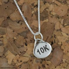 Gone For a Run Livia Collection Sterling Silver Matte Tri Figures Necklace
