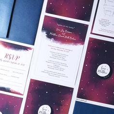 Lauren Baker Print & Design | Wedding Stationery | Star Moon Nightsky Wedding Invitation