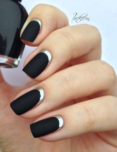 I love this but the silver matches my pale skin tone and it looks like my nails have grown while the polish has been on.