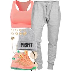 A fashion look from September 2013 featuring cotton sweatpants, bra top and asos jewelry. Browse and shop related looks.