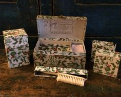 Dennison Manufacturing Co. jewelry cleaning kit in a holly box.