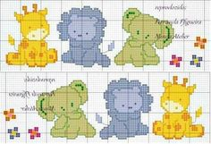 Cross Stitch For Kids, Cross Stitch Baby, Cross Stitch Animals, Cross Stitch Charts, Funny Cross Stitch Patterns, Cross Stitch Designs, Cross Stitching, Cross Stitch Embroidery, Beading Patterns