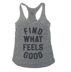 Find What Feels Good - Women's Racerback Tank Top- Yoga with Adriene