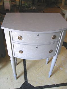 Two Drawer Stand stenciled and painted with Chalk Paint® Decorative Paint by Annie Sloan