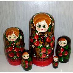 Raspberry girl #Babushka #russiandoll #matryoshka #dollsindolls #decor #traditional