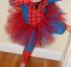 Spiderman / Spidergirl TuTu  Perfect for your by TutusToTheRescue